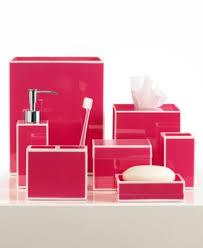 kassatex bath accessories pink soho trash can bathroom