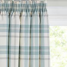 Lined Curtains John Lewis by Buy John Lewis Burghley Check Lined Pencil Pleat Curtains Duck