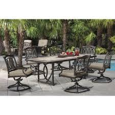 costco kirkland signature alumicast 7 piece dining set outdoor