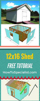 free 12x16 gambrel shed material list how to build a 12x16 shed easy to follow free shed plans and
