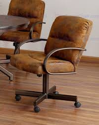 Dining Chairs With Casters Swivel Swivel Dining Chairs With Casters