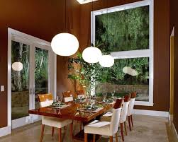 Asian Dining Room Table Interior Luxurious Decor With Brown Wall Using Windows And Gloss