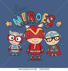 Three Adorable Boys Are Wearing Super Heroes Costumes Artwork Design With Typography Funny Kids