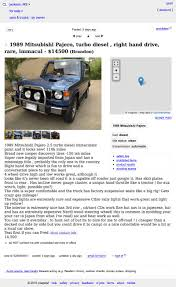 100 Mississippi Craigslist Cars And Trucks By Owner For 14500 How About This 1989 Mitsubishi Pajero Diesel
