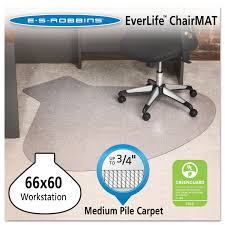 Desk Chair Mat For Carpet by Everlife Chair Mats For Medium Pile Carpet By Es Robbins