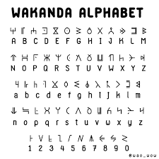 Wakandan Alphabet Alt Languages