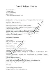 Welder Resume Examples Welding Inspector Objective Sample Of Resumes Example Job Samples Best Template Format In Mig