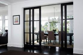 Stylish Sliding Glass Door Designs 40 Modern Images Elegant Dining Area Concealed By