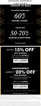 Banana Republic Factory Coupon Code - COUPON Athleta Promo Codes November 2019 Findercom 50 Off Bana Republic And 40 Br Factory With Email Code Sport Chek Coupon April Current Thrive Market Expired Egifter 110 In Home Depot Egiftcards For 100 Republic Outlet Canada Pregnancy Test 60 Sale Items Minimal Exclusions At Canada To Save More Gap Uae Promo Code Up Off Coupon Codes Discount Va Marine Science Museum Coupons Blooming Bulb Catch Of The Day Free Shipping 2018 How 30 Off Coupons Money Saver 70