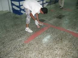 wood metal marble terrazzo tiles can we apply epoxies on