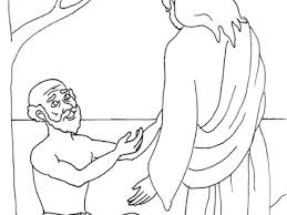 Blind Bartimaeus Coloring Page JESUS HEALS THE BLIND MAN