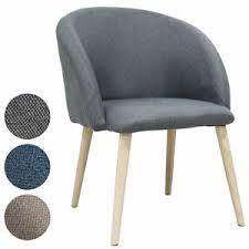 details zu svita polsterstuhl esszimmerstuhl küchenstuhl mit armlehne stoffbezug rund grau