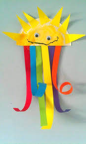 It s a sunshiny day Celebrate it with a paper plate sun and rainbow
