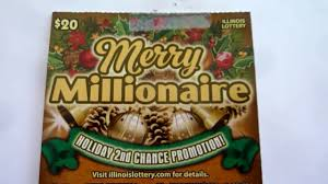 Halloween Millionaire Raffle Pa by Scratching A 20 Instant Lottery Ticket Illinois Holiday Ticket