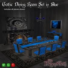 Gothic Dining Room Set In Blue Furniture For The