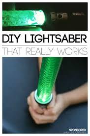 DIY Lightsaber That Really Works Diy Kid Crafts