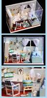 diy miniature dream bedroom led doll house box home decoration