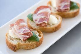 what does canape canapés a hour food
