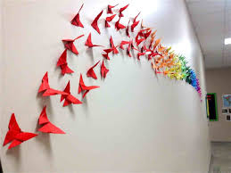 How Wall Decoration With Paper Butterfly To Make Butterflies Decor Diy Crafts Youtube An Origami Coolbkids
