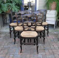 Antique French Dining Chairs Rush Seats Scalloped Ladder Back Stretchers Guy Chaddock Melrose Custom Handmade Fniture Cf0485s Country French Ding Chairs With Ladder Back And Rush Seats Antique Farm Carved Tall Seat Room Set Of 6 Provincial In Walnut 10 Louis Xv Style Oak Leather Nailhead Recliner Chair Vintage White Of Four Six Xiv Ladderback Scalloped Stretchers Inspire Q Eleanor Wood 2 By Dec 16 2018