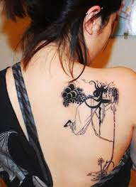 Ladies Back Tattoos 13