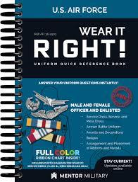 it right air force uniform book iaw afi 36 2903