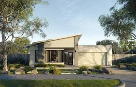 104 Skillian Roof Boutique Homes With Its Skillion Form Rendered Piers Large Corner Window And Painted Timber Cladding The New Single Storey Coast Facade Appeals To Beach Lovers Or Anyone Wanting To Bring
