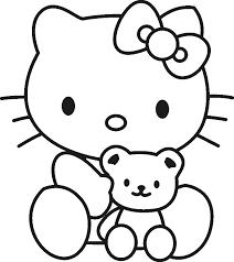 Free Coloring Pages For Kids Hello Kitty Sheet