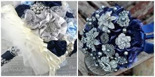 Navy Blue And Silver Wedding Bouquets An Elegant In Online Sunflower Bouquet