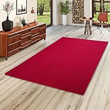 strong feinschlingen velour teppich rot in 24 größen größe 160x200 cm