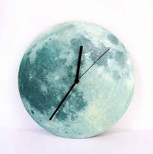 mond leuchtende diy wanduhr aufkleber beleuchtet kreative kinder wanduhr schweigen horloge wandbild kunst zegar schlafzimmer uhr aa50wc