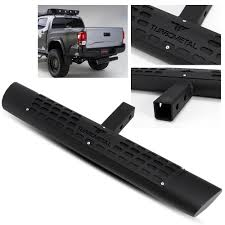 100 Hitch Truck 325 Oval Tube Black Rear Bumper Step For PickupSUV 2