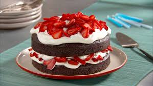 Chocolate Cake with Whipped Cream and Berries Recipe & Video