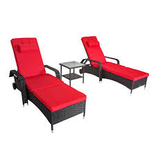 3 PCS Wicker Patio Adjustable Outdoor Chaise Lounge Chair Set W ... Giantex Outdoor Chaise Lounge Chair Recliner Cushioned Patio Garden Adjustable Sloungers Outsunny Recling Galleon Christopher Knight Home 294919 Lakeport Steel Back Shop Kinbor 2 Pcs Allweather Affordable Varietyoutdoor Pool Fniture Cosco Alinum Serene Ridge Bestchoiceproducts Best Choice Products 79x30in Acacia Wood Baner Ch33 Cambridge Nova White Frame Sling In Chosenfniture