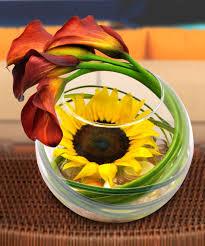 Sunflower Bath Gift Set by Simply Striking Sunflower Bowl Floral Arrangements Beneva