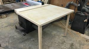 Sawstop Cabinet Saw Outfeed Table by Folding Outfeed Table For Table Saw Youtube