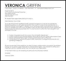 Border Patrol Agent Cover Letter Sample