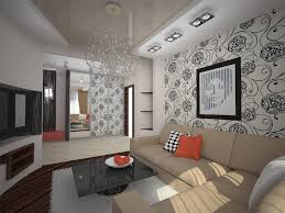 Excellent Wallpaper Living Room Designs For Feature Ideas Full