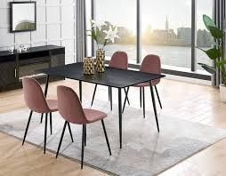 esszimmer len modernes esszimmer sofa in grau filz schwarz