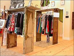 Vintage Door Clothing Display