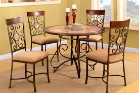 Dinette Sets With Caster Chairs by Furniture Easy The Eye Poundex Piece Metal Dinette Set Kitchen