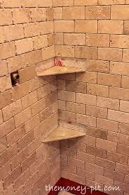 master bathroom week 5 installing shower shelves the cheap way