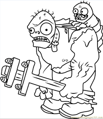 Printable Gargantuar Plants Vs Zombies Coloring Pages Free