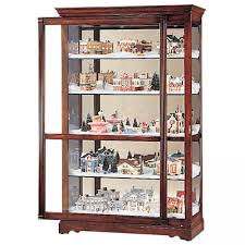 clockway howard miller cherry curio cabinet made in usa