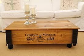 joe s couchtisch meubles truhentisch truhe im vintage shabby chic style aus massiv holz in braun mit stauraum und deckel holzkiste beistelltisch