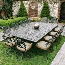 white metal outdoor furniture intended for property garden
