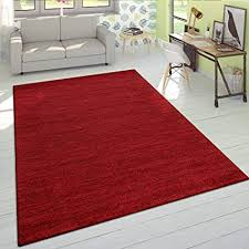 paco home wohnzimmer teppich kurzflor teppich mit hellen akzenten einfarbig meliert in rot grösse 60x100 cm