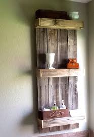 Stylish Remodelaholic Build An Easy Rustic Bathroom Shelf Wood Shelves Ideas