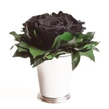 kunstorchidee 3 infinity in silberfarben becher wohnzimmer deko blumenstrauß geschenk für frauen kunstpflanze rosemarie schulz