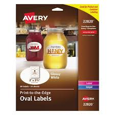 AveryR Print To The Edge Glossy Oval Labels True